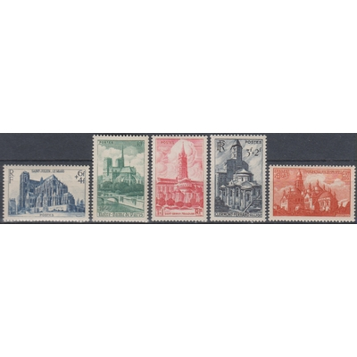 France - Cathédrales - yt.772/76 neufs ** - Cote €12.50