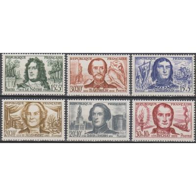 France - Célébrités - yt.1207/12 neufs ** - Cote €10