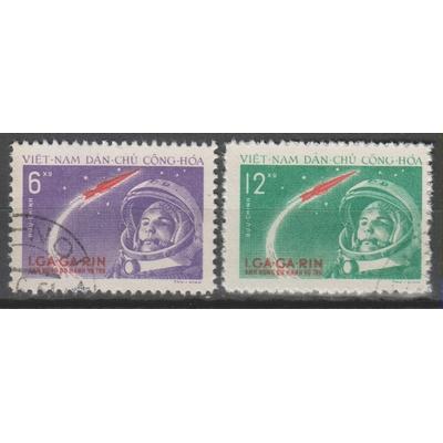 Vietnam du Nord - Espace - yt.228/29 oblitérés - Cote €15
