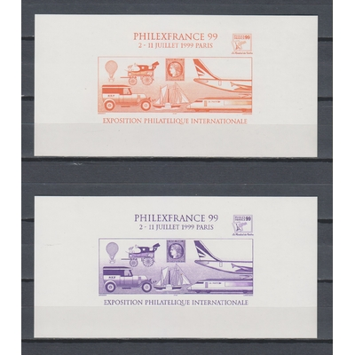 France - 2 feuillets Phliexfrance 99 différents neufs **
