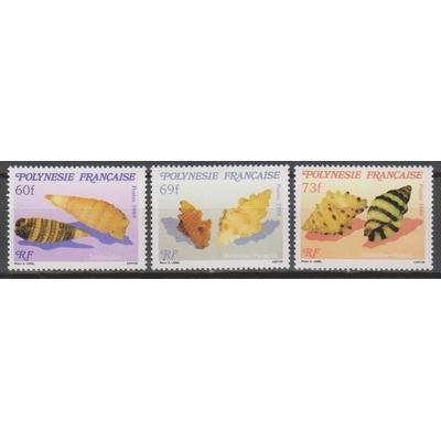 Polynésie Française - Coquillages - yt.343/45 neufs ** - Cote €6.70