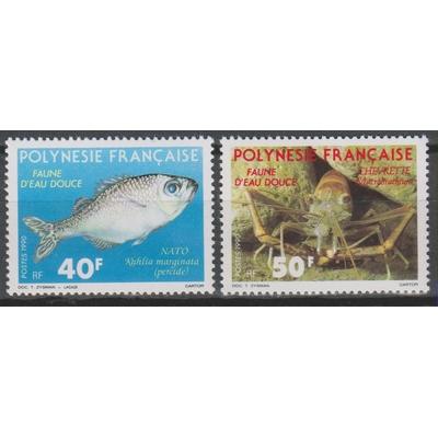 Polynésie Française - Faune des rivières - yt.352/53 neufs ** - Cote €3.50
