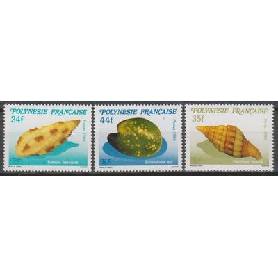 Polynésie Française - Coquillages - yt.312/14 neufs ** - Cote €3,50