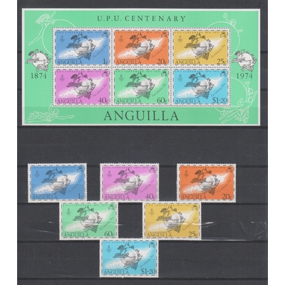 Anguilla - UPU - yt.167/72 + BF6 neufs ** - Cote €6,50
