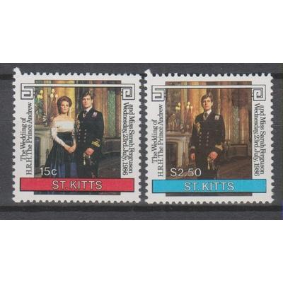 Saint-Christophe - Mariage royal - yt.604/05 neufs ** - Cote €3.50