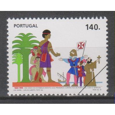 """Portugal - Le Sénégal - Timbres de 1994 neuf ** surcharge """"spécimen"""""""