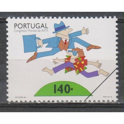 """Portugal - Congrès ASPA - Timbre neuf ** de 1994 surchargé """"spécimen"""""""