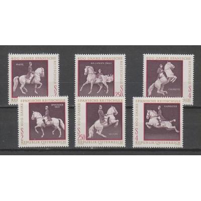Autriche - Chevaux - yt.1224/29 neufs ** - Cote €6.50