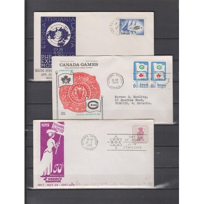 Canada - Gros lot d'enveloppes 1er-jour (9 photos)