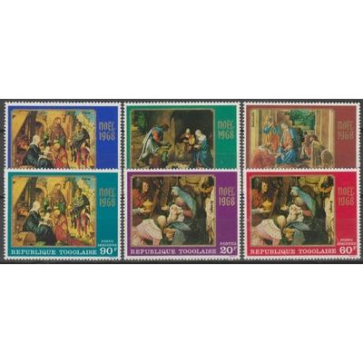 Togo - Noël - Série neuve ** de 1968 - Cote €7