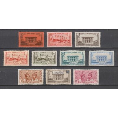 Martinique - Timbres courants de 1933-45 neufs */** - Cote €5