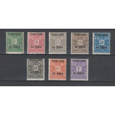Niger - Timbres taxe - yt.T1/8 neufs * - Cote €10