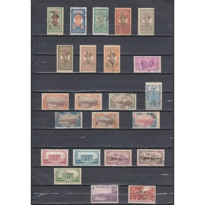 Martinique - Collections d'émissions oblitérés - Cote €15