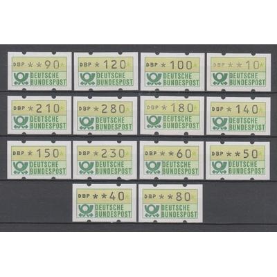 Allemagne - Timbres de distributeurs - Série neuve ** - Cote €34