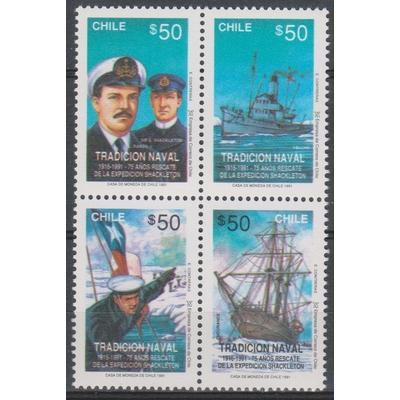 Chili - Tradition navale - yt.1043/46 neufs ** - Cote €3