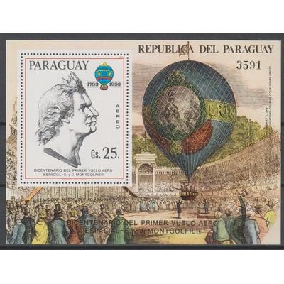 Paraguay - Montgolfier - Feuillet neuf ** de 1983