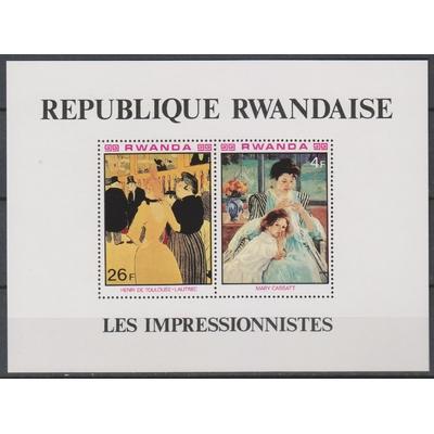Rwanda - Les impressionnistes - yt.BF87 neuf ** - Cote €3
