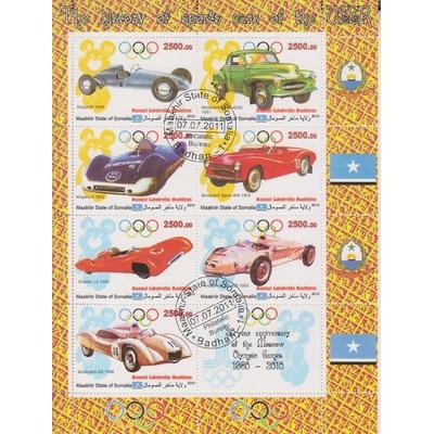 Somalie - Automobiles - Feuillet oblitéré de 2011