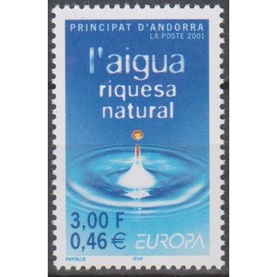 Andorre Français - Europa 2001 - yt.546 neuf ** - Cote €2.30