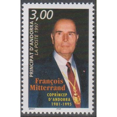 Andorre Français - Mitterrand - yt.484 neuf ** - Cote €2