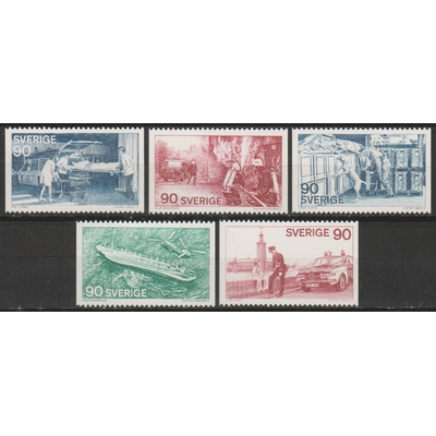 Suède - Métiers - yt.895/99 neufs ** - Cote €3