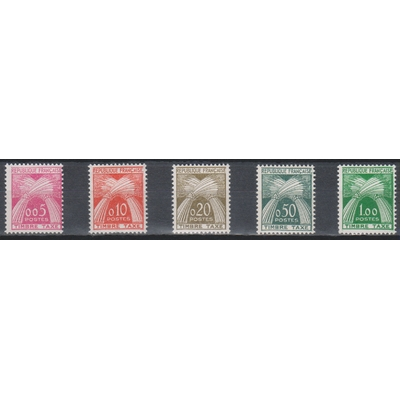 France - Timbres-taxe - yt.90/94 neufs * - Cote €70