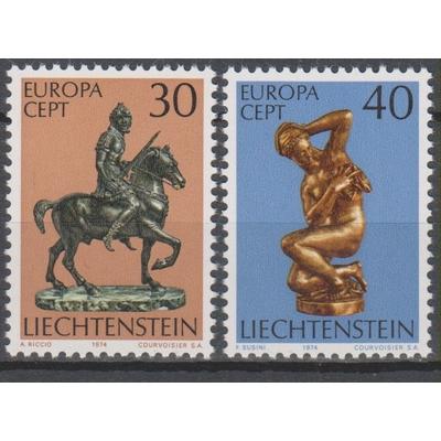 Liechtenstein - Europa 1974 neufs ** - Cote €1.20