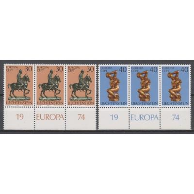 Liechtenstein - Europa 1974 neufs ** avec marges - Cote €3.60