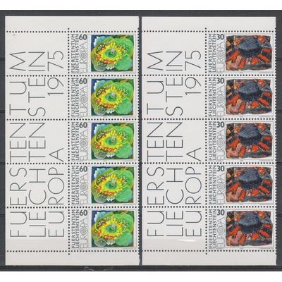 Liechtenstein - Europa 1975 neufs ** avec marges - Cote €7.50
