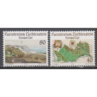 Liechtenstein - Europa 1977 neufs ** - Cote €2