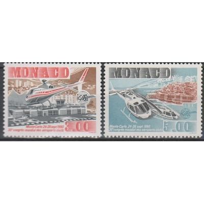Monaco - Aéroport - yt.1736/37 neufs ** - Cote €5