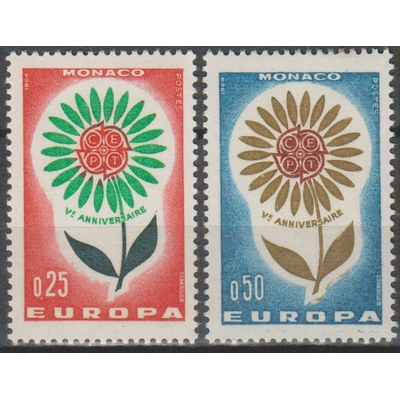 Monaco - Europa 1964 neufs ** - Cote €2.50