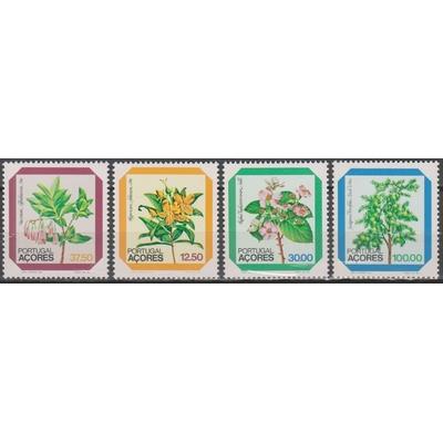 Açores - fleurs - yt.347/50 neufs ** - Cote €4.80