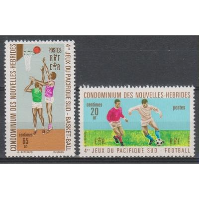 Nouvelles-Hébrides - Sports - yt.308/09 neufs ** - Cote €2.50