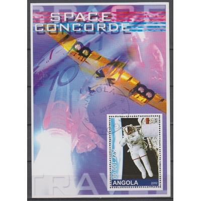 Angola - Concorde / Espace - Feuillet oblitéré de 2002