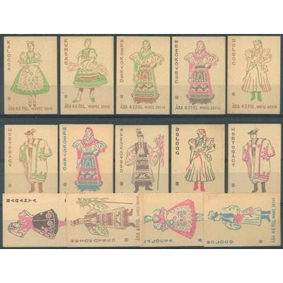 Étiquettes de boites d'allumettes - Belle sélection de costumes