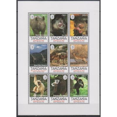 Tanzanie - Faune sauvage - yt.1716/24 neufs ** - Cote €9