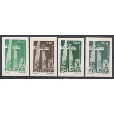 Pologne - Vignettes - 4 valeurs différentes neuves **