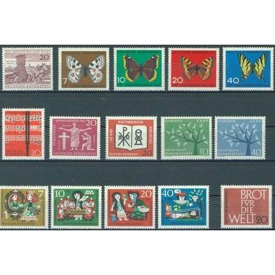 Allemagne - Année complète 1962 neuve ** - Cote €9