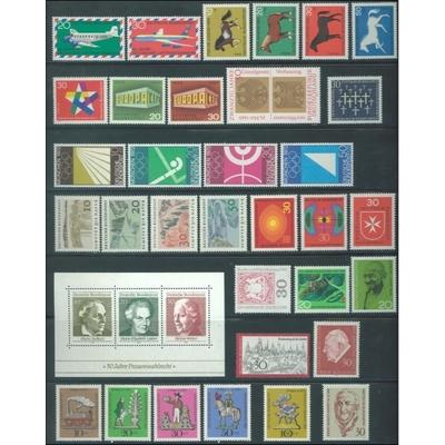 Allemagne - Année complète 1968 neuve ** - Cote €25