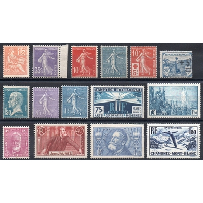 France - Collection de timbres neufs * (5 photos) - Cote €365