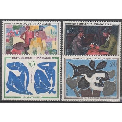 France - Tableaux - yt.1319/22 neufs ** - Cote €12