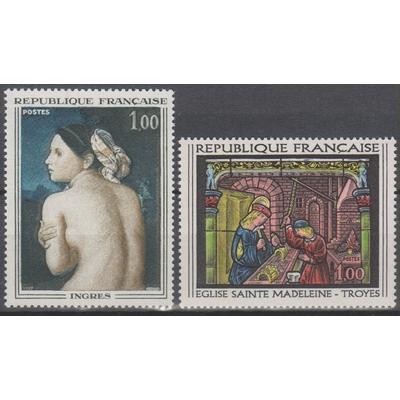 France - Tableaux - yt.1530/31 neufs ** - Cote €1