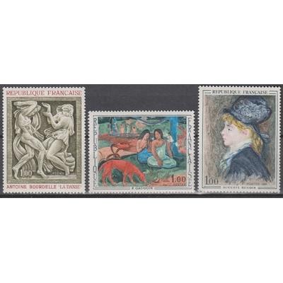 France - Tableaux - yt.1568/70 neufs ** - Cote €2.60