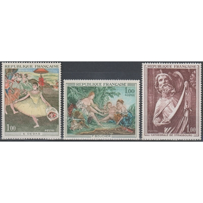 France - Tableaux - yt.1652/54 neufs ** - Cote €3