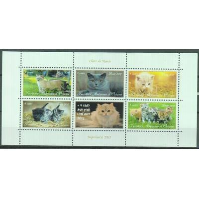 Chats du monde - Feuillet - Territoire Autonome d'Océanie