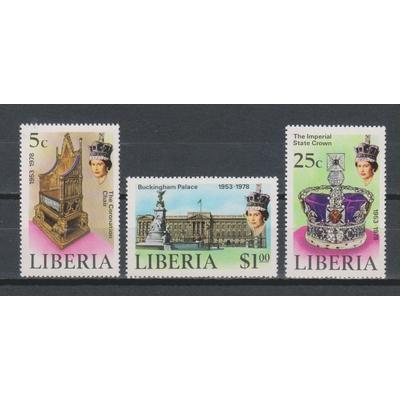 Libéria - Elizabeth II - yt.772/74 neufs ** - Cote €7