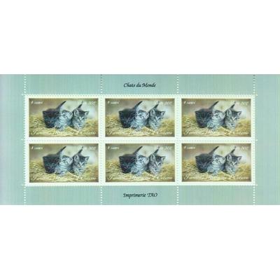 Chats du monde - Feuillet de 6 - Territoire Autonome d'Océanie