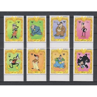 Dominique - 65 ans de Mickey Mouse - yt.1689/92+yt.1701/04 neufs ** - Cote €19