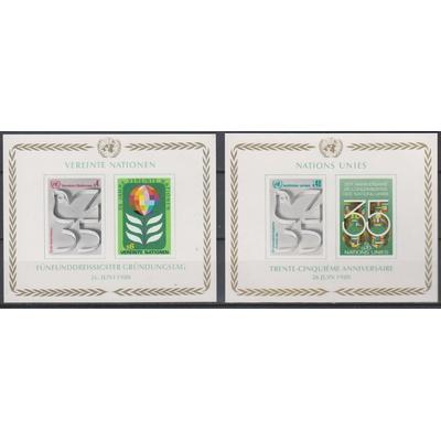 Nations-Unies - 2 feuillets neufs ** de 1980 - Cote €5,60